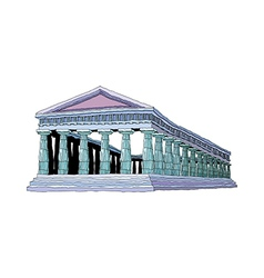 A view of architecture vector