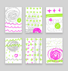 Abstract hand drawn banners vector