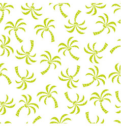 Abstract seamless pattern with palm trees vector