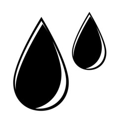 abstract symbol of a drop vector image