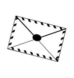 Air mail envelope postal stamp letter symbol vector