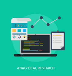 Analytical research conceptual design vector