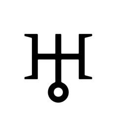 astronomical symbol of uranus 1 vector image