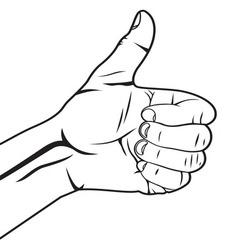 Autostoperski prst vector image