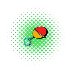 Baby beanbag icon comics style vector