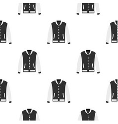 baseball jacket pattern seamless vector image