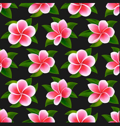 beautiful tropical flowers seamless floral summer vector image