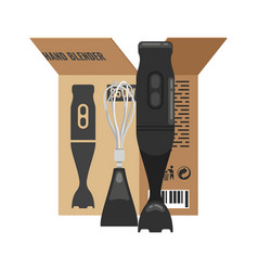 Blender unpacked from box lat kitchen vector