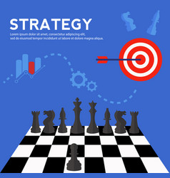business strategy and planning concept vector image