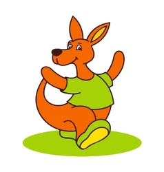 Carefree kangaroo logo vector