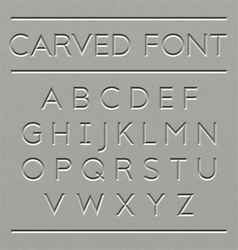 Carved font design vector
