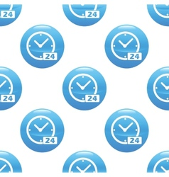 Clock 24 sign pattern vector image