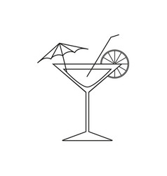 cocktail of icons vector image