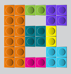 Colorful brick construction lego letter b vector