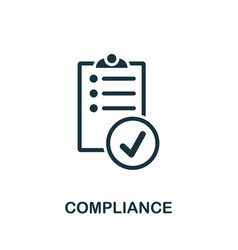 Compliance icon simple element from regulation vector