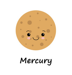 Cute planet mercury for vector