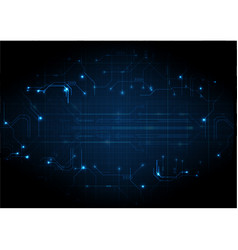 deep blue futuristic game circuit background vector image