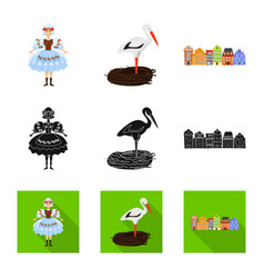 design traditional and tour logo set of vector image