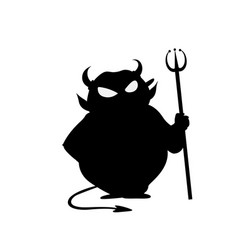 devil with trident halloween icon isolated o vector image