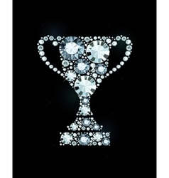 Diamond Trophy Award vector image