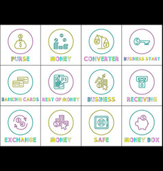 e-commerce and online business linear icons set vector image