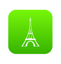 eiffel tower icon digital green vector image
