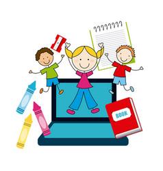Elementary school design vector