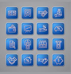 finance icon set vector image