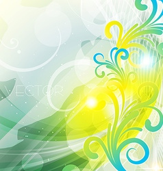Floral style background vector