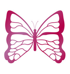 flying butterfly icon vector image