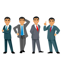 Four businessmen on white background vector