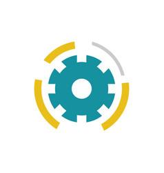 gear connect technology logo vector image