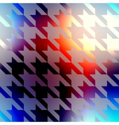 Geometric pattern of Hounds-tooth on blurred vector