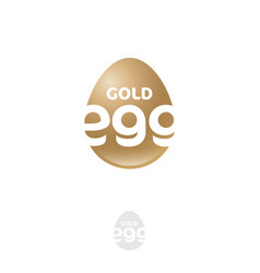 golden egg logo easter holidays products vector image