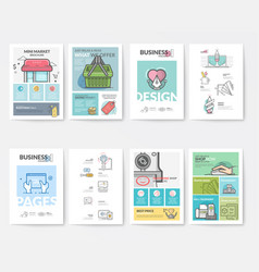 Graphic and multimedia brochure templates vector