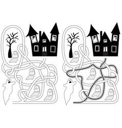 Graveyard maze vector
