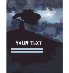 grunge landscape poster vector image
