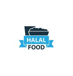 halal colorful icon symbol premium quality vector image