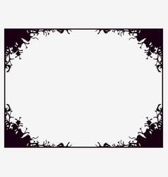 Halloween frame october 31st scary branch borders vector