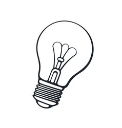 hand drawn doodle light bulb vector image