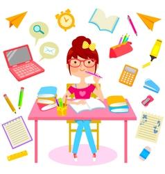 Happy school life vector