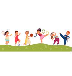 happy sport children kids team happy child and vector image