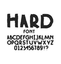 Hard font alphabet vector