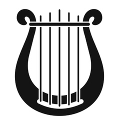 Harp icon simple style vector
