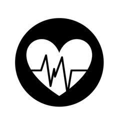 Heart cardiology isolated icon vector