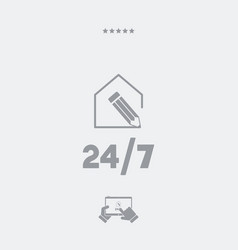 House customized services 247 - web icon vector