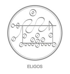 Icon with symbol demon eligos vector