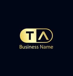 Initial letter ta logo template design vector