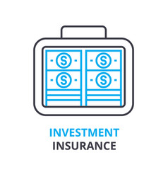 Investment insurance concept outline icon vector