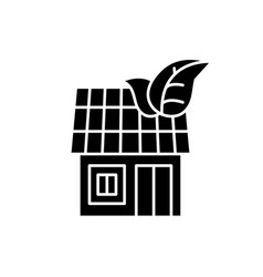 it house black icon sign on isolated vector image